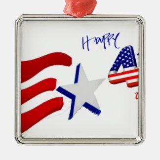 feliz el 4 de julio, Día de la Independencia feliz Ornamentos Para Reyes Magos