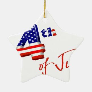 Feliz el 4 de julio, Día de la Independencia feliz Adornos De Navidad