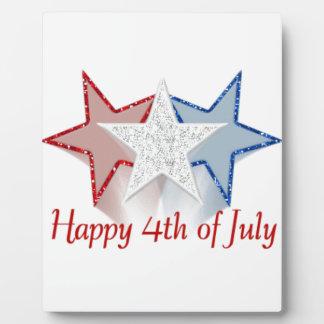 Feliz el 4 de julio placa expositora