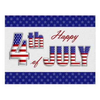 Feliz el 4 de julio. Postales patrióticas del