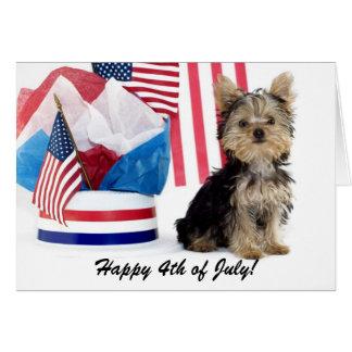 ¡Feliz el 4 de julio! Tarjetón
