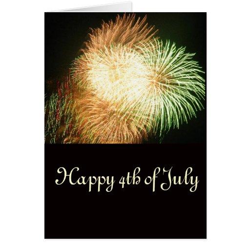 Feliz el 4 de julio felicitaciones