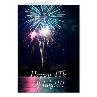 ¡Feliz el 4 de julio!!!! Tarjeta De Felicitación