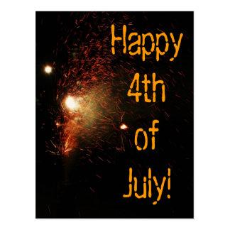 ¡Feliz el 4 de julio! Postal