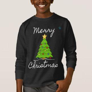 Feliz feliz árbol de navidad camiseta