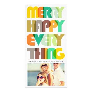 Feliz feliz todo tarjeta colorida de la foto del