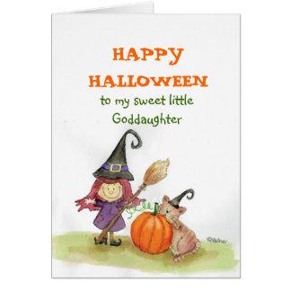 Feliz Halloween a mi ahijada Tarjeta De Felicitación