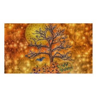 feliz Halloween, árbol Plantillas De Tarjetas De Visita