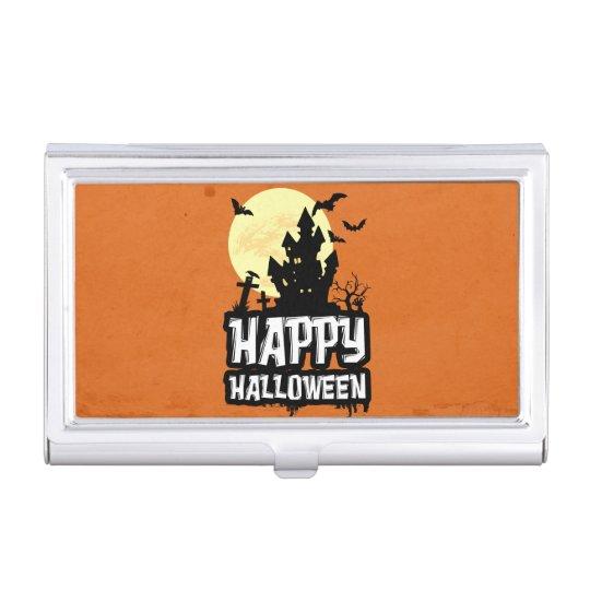 Feliz Halloween Caja De Tarjetas De Presentación