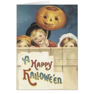 Feliz Halloween - cara de la calabaza Tarjeta De Felicitación