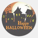 Feliz Halloween de las casas encantadas Etiquetas