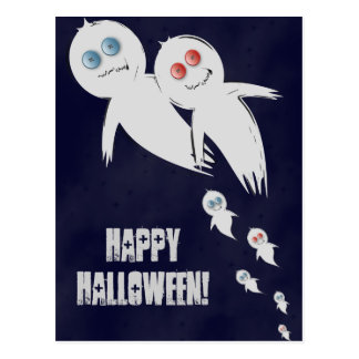 Feliz Halloween de una familia del fantasma Postal