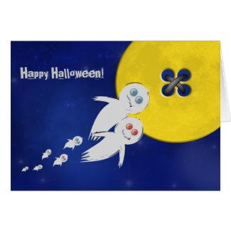 Feliz Halloween de una familia del fantasma Tarjeta De Felicitación