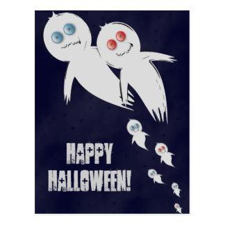 Feliz Halloween de una familia del fantasma Tarjeta Postal