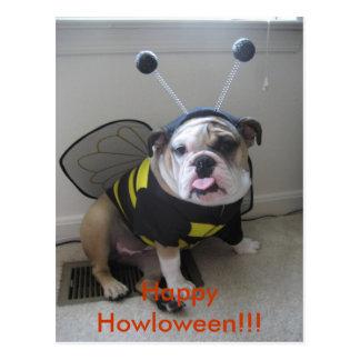 Feliz Halloween, dogo inglés Postal