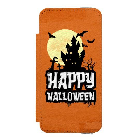 Feliz Halloween Funda Cartera Para iPhone 5 Watson