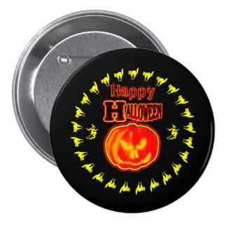 ¡Feliz Halloween! Jack - O - linterna 3 Chapa Redonda 7 Cm