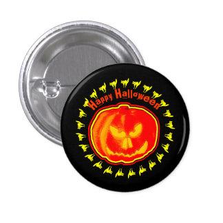¡Feliz Halloween! Jack - O - linterna Chapa Redonda 2,5 Cm