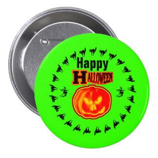 ¡Feliz Halloween! Jack - O - verde de la linterna Chapa Redonda 7 Cm