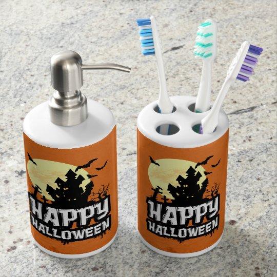 Feliz Halloween Sets De Baño