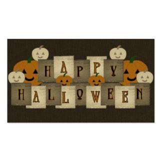 Feliz Halloween Tarjetas De Negocios