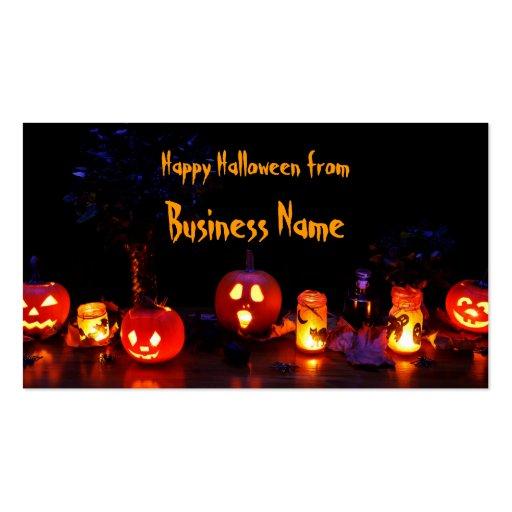 Feliz Halloween Plantilla De Tarjeta De Negocio