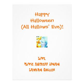 ¡Feliz Halloween (todo santificó Eve)! Folleto 21,6 X 28 Cm