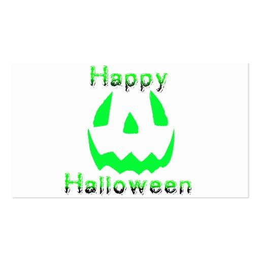 Feliz Halloween verde Tarjetas Personales