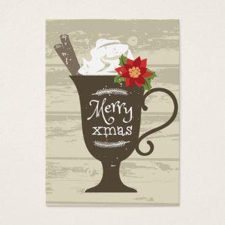 Feliz helado del día de fiesta de Navidad Tarjeta De Negocios