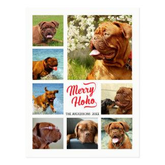 Feliz Ho Ho plantilla del collage de la foto de Postal