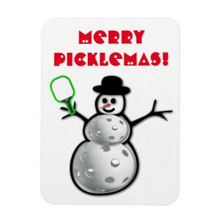 Feliz imán del muñeco de nieve de Picklemas