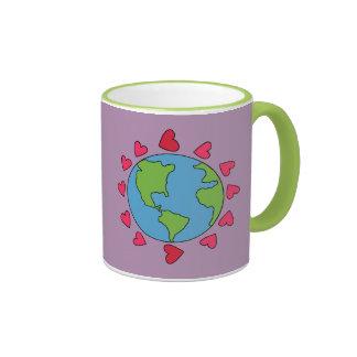 Feliz la tierra es Day Ringer Quote Mug del señor Taza De Café