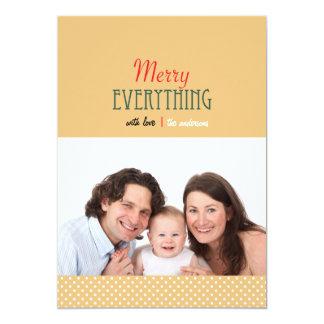 Feliz minimalista todo tarjeta de la foto de los invitación 12,7 x 17,8 cm