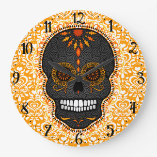 Feliz Muertos - reloj de pared feliz del cráneo
