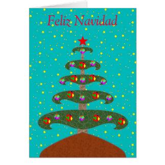 Feliz Navidad Arbol 1 Tarjeta De Felicitación