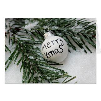 Tarjeta Feliz Navidad Baubel en tarjeta de felicitación de