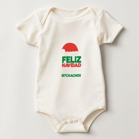 Feliz Navidad Bitchachos Body Para Bebé