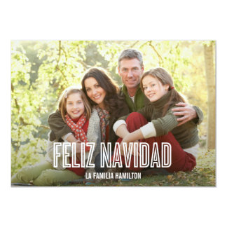 Feliz Navidad del día de fiesta tarjetas con fotog Invitación 12,7 X 17,8 Cm