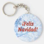 ¡¡Feliz Navidad! Felices Navidad en el rf español Llavero Redondo Tipo Chapa