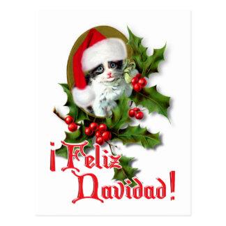 Feliz Navidad - gatito del navidad Tarjeta Postal