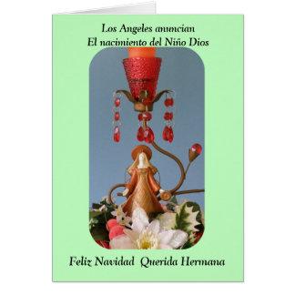 Feliz Navidad Querida Hermana Tarjeta De Felicitación