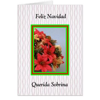 Feliz Navidad Querida Sobrina Tarjeta De Felicitación