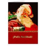 Feliz Navidad. Tarjeta de Navidad adaptable españo