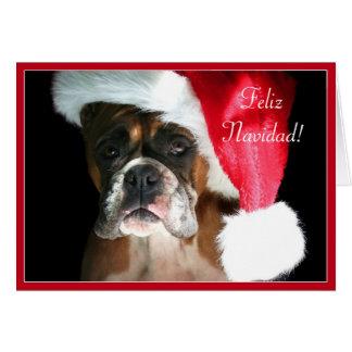 Feliz Navidad Tarjeta de perro Boxer