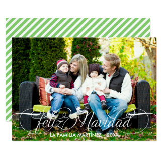 Feliz Navidad Tarjeta Fotográfica Escritura Blanca Invitación 12,7 X 17,8 Cm
