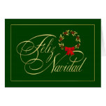 Feliz Navidad - tarjetas españoles - tarjetas del