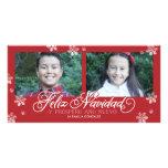 Feliz Navidad Y Próspero Año Nuevo Tarjetas Fotográficas
