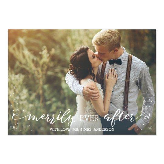 Feliz nunca después de, casando la tarjeta de la invitación 12,7 x 17,8 cm