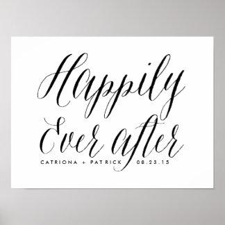 Feliz nunca después de casar negro del poster el | póster