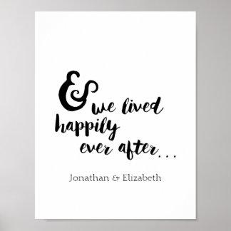 Feliz nunca después de cita romántica póster